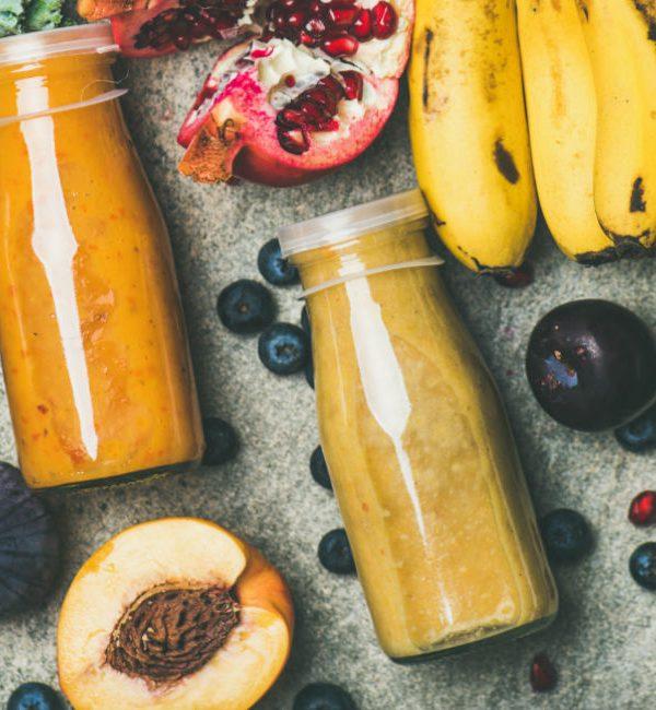 Frullati oppure estratti a base di frutta e verdura per la dieta purificante