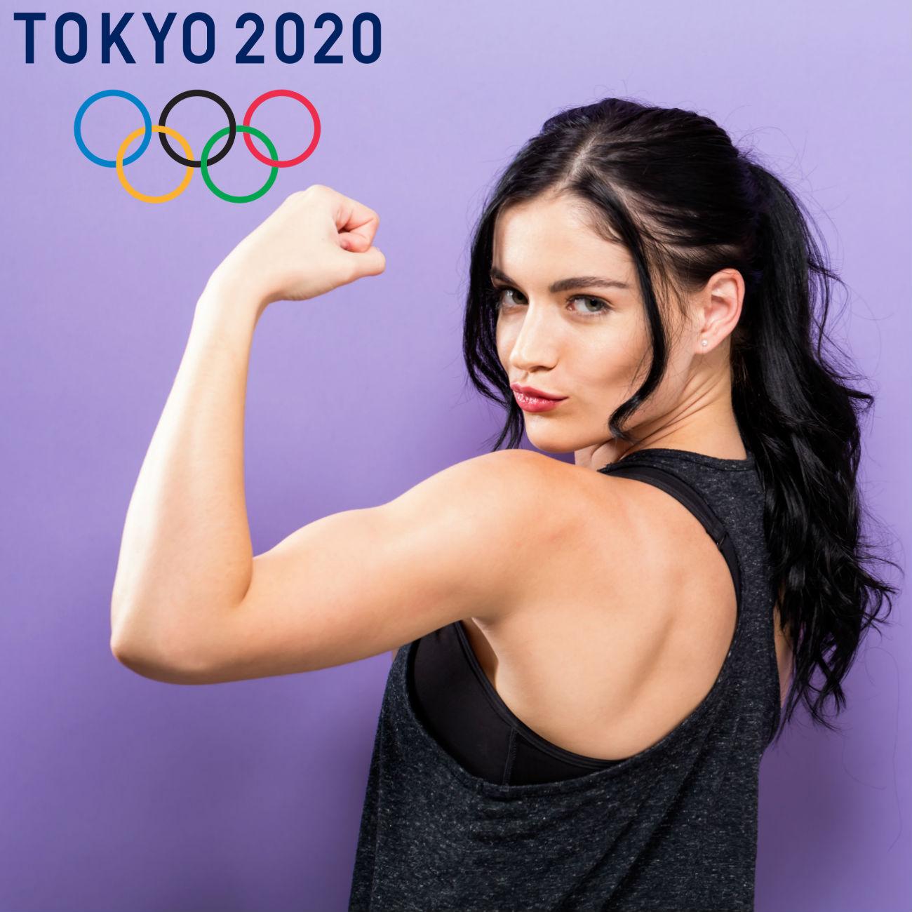 uscoli. In alto a sx la scritta Tokyo 2020 e i simboli olimpici