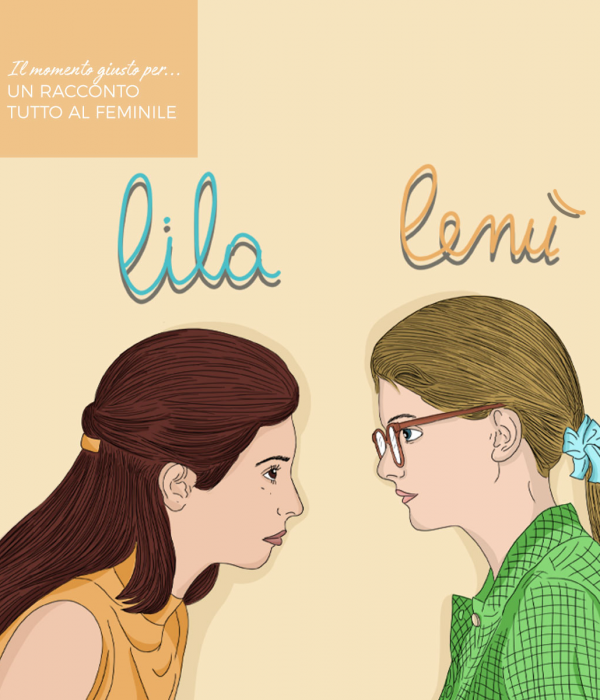 Illustrazione che ritrae Lila e Lenù, le due protagoniste televisive de L'amica Geniale