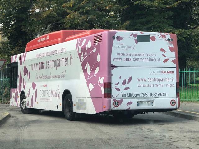 autobus customizzato Centro Palmer: gira per Reggio Emilia per informare sul Social Egg Freezing e la PMA