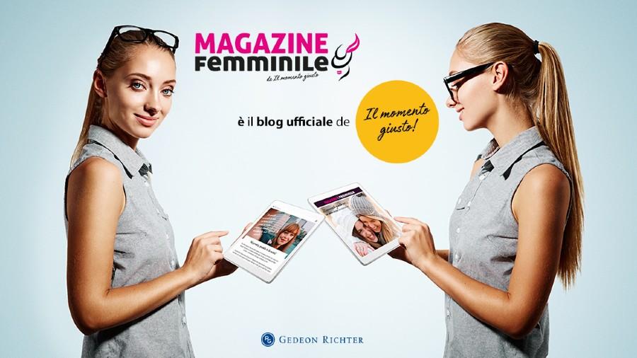 """Banner """"Magazine Femminile"""" è il blog ufficiale de """"Il momento giusto"""""""