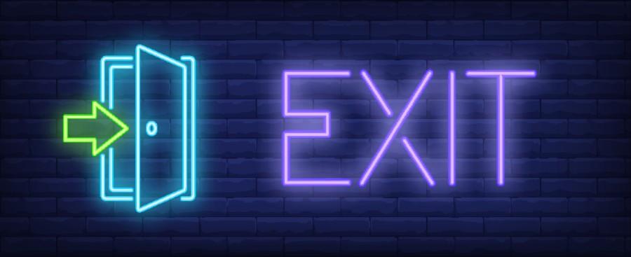 Neon con parola EXIT