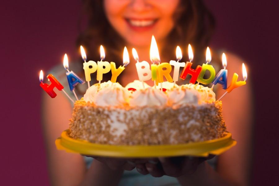 Close up su torta di compleanno