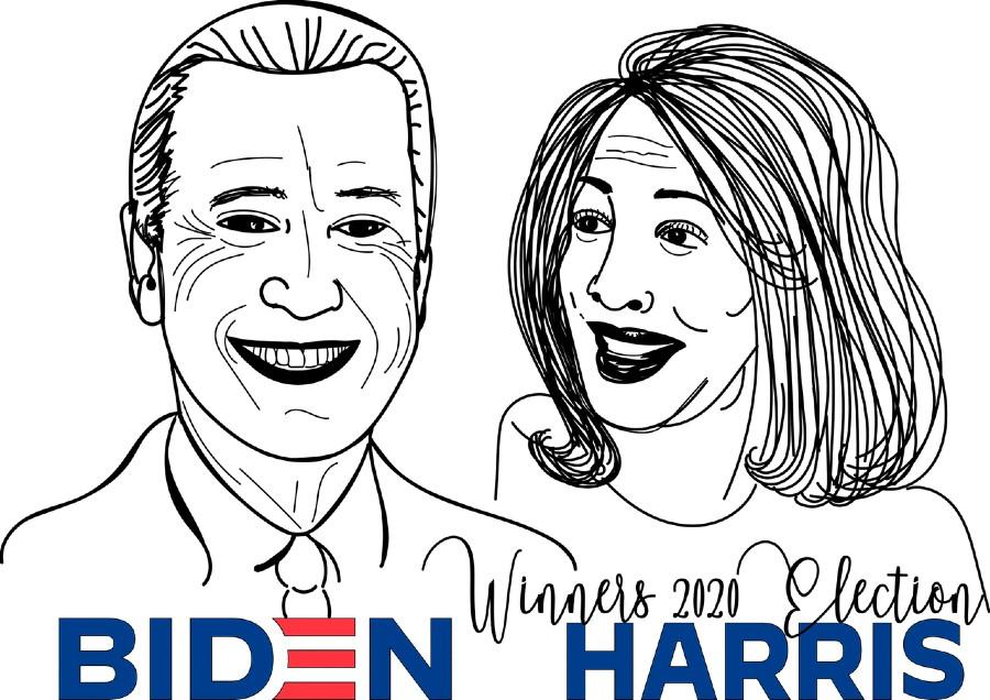 Ritratto di Biden e Harris. Foto di Please Don't sell My Artwork AS IS da Pixabay
