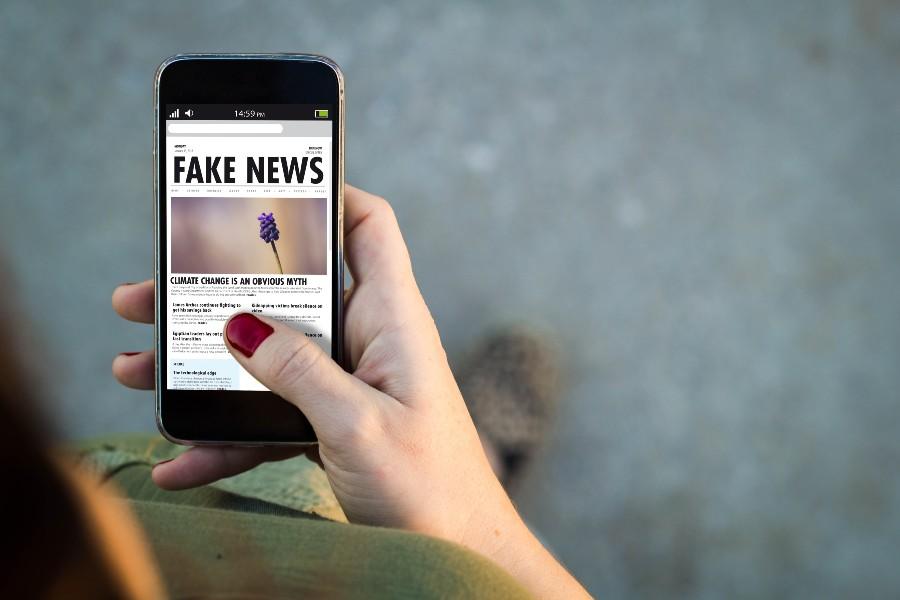 Informazioni sulla salute: fake news, concept