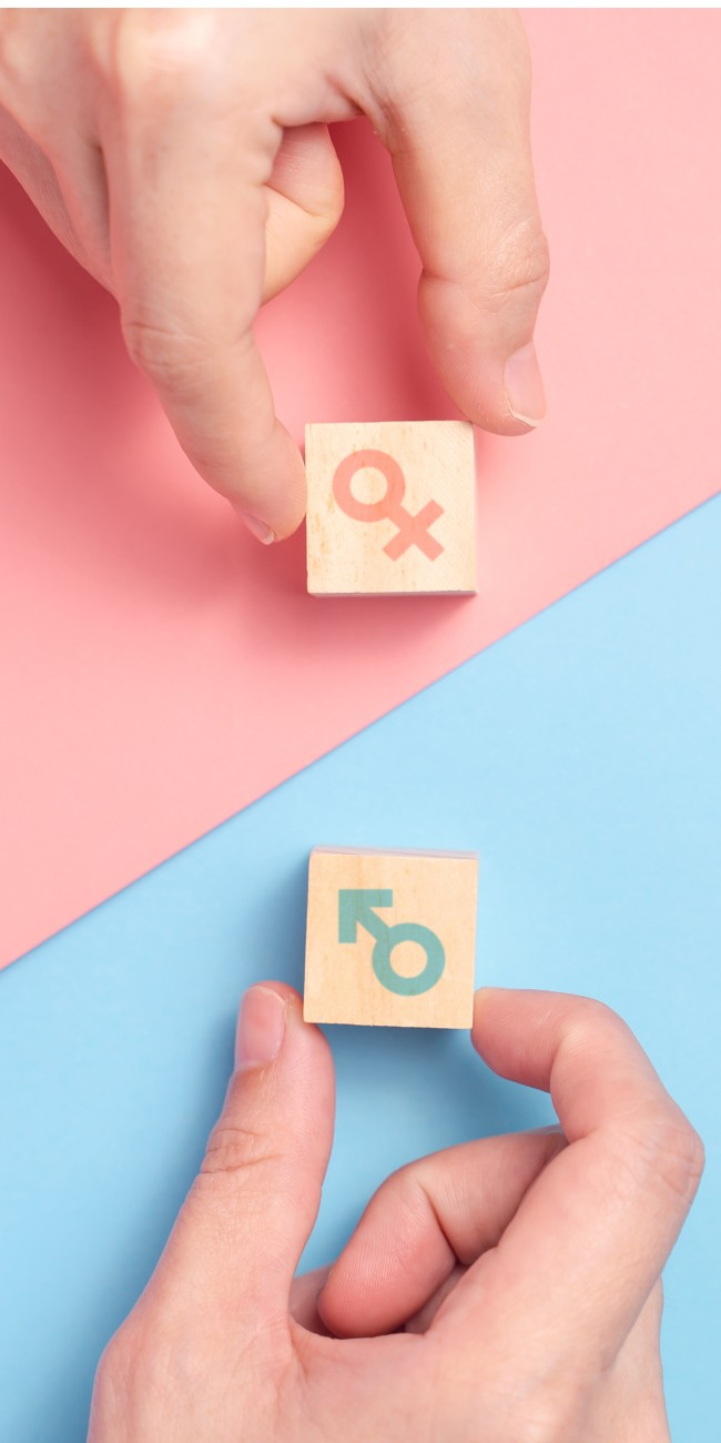 Fertilità maschile e femminile concept
